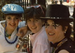 My good friend Janet, Me and My Mom eons agon at Mardi Gras